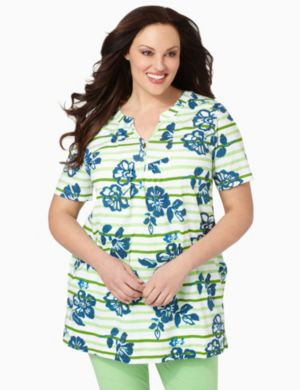 Floral Stripe Sleep Tunic