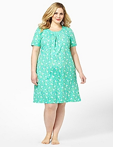 Dragonfly Pleated Sleepshirt by CATHERINES