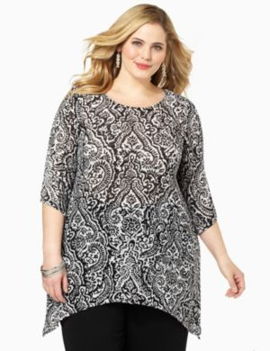 Herringbone Scroll Top
