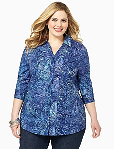 Paisley Harmony Shirt by CATHERINES