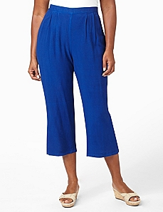 Pull-On Crop Pant by CATHERINES