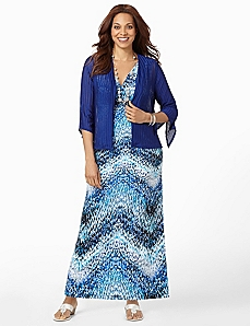 Waterfall Maxi with Jacket by CATHERINES