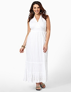 Airy Eyelet Dress by CATHERINES