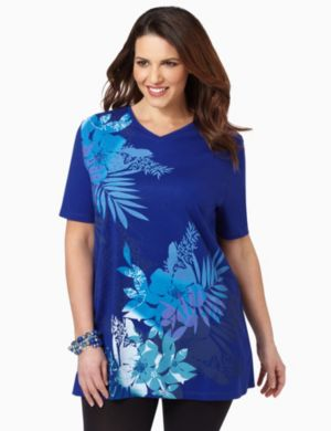 Hawaiian Palms V-Neck