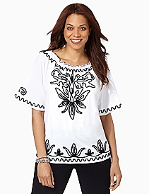 Tiger Lily Soutache Top