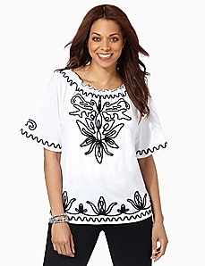 Tiger Lily Soutache Top by CATHERINES