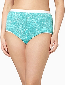 Serenada® Dotted Paisley Brief by CATHERINES