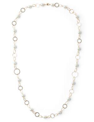 Pearls & Hoop Necklace