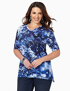Tie-Dye Infuse Tunic by CATHERINES
