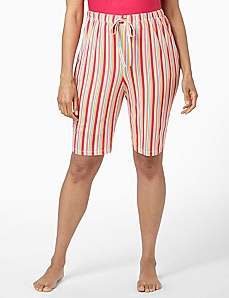 Stripe Bermuda Sleep Short by CATHERINES