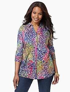 Meadow Mist Buttonfront Shirt by CATHERINES