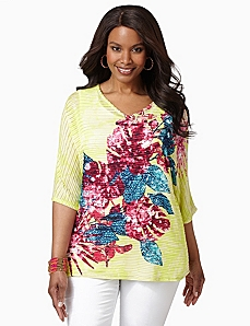 Bright Blossom Top by CATHERINES