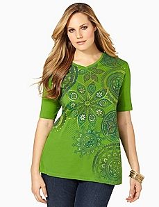 Exotic Bloom Tee by CATHERINES