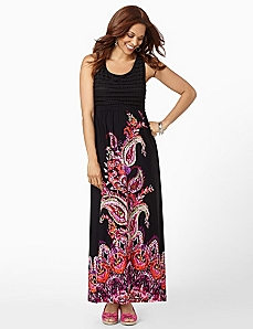 Paisley Eyelash Maxi by CATHERINES