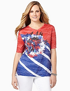 Americana Stripe Top