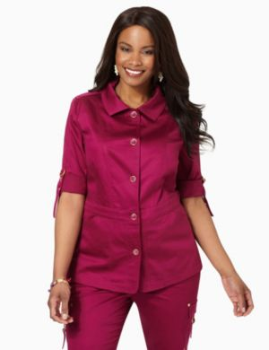 Fitted Sateen Jacket