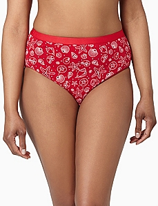 Serenada® Seashell Hi-Cut Panty by CATHERINES