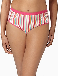 Serenada® Stripe Hi-Cut Panty by CATHERINES