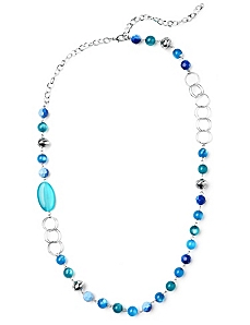 Beaded Blue Lagoon Necklace by CATHERINES