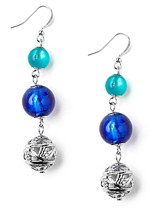 Blue Sensation Earrings by CATHERINES
