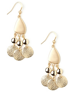 Glitter Disc Earrings by CATHERINES