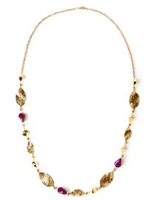 Metallic Speckle Necklace