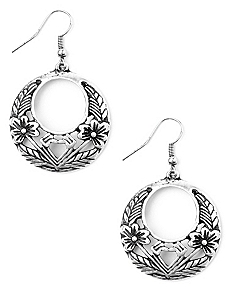 Floral Filigree Earrings by CATHERINES