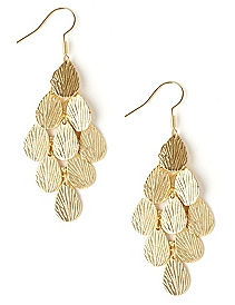 Etched Chandelier Earrings
