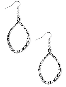 Teardrop Texture Earrings by CATHERINES
