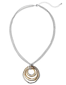 Metallic Mix Necklace by CATHERINES