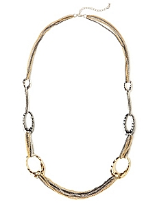 Metallic Layering Necklace