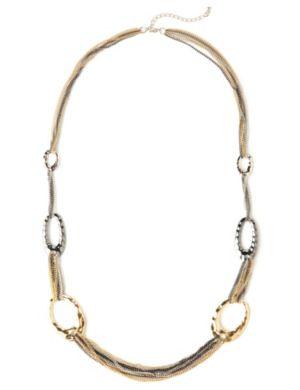 Metallic Layering Necklace