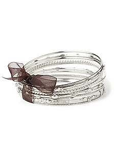 Metallic Twist Bangles