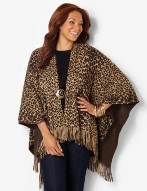 Leopard Ruana
