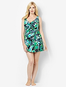 Tropical Blend Swimdress by CATHERINES