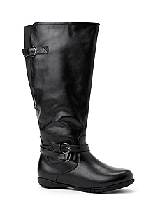 Buckle Low Wedge Boot