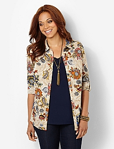 Paisley Shirt by CATHERINES