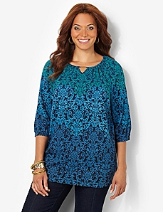 Ombre Damask Tunic