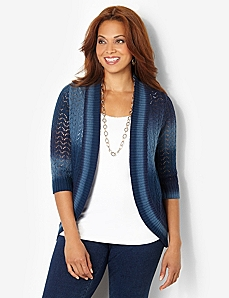 Color Vibe Cardigan by CATHERINES