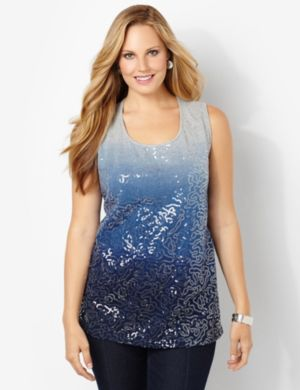 Sequin Ombre Tank