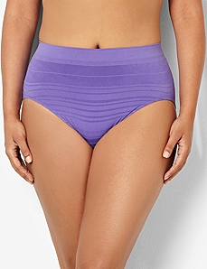 Serenada® Seamless Shadow Stripe Panty by CATHERINES