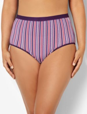 Serenada® Striped Full Brief Panty