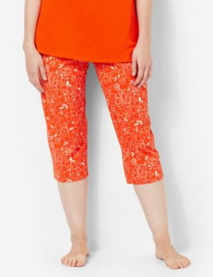 Floral Sketch Sleep Capri