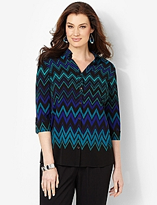 Chevron Wave Buttonfront
