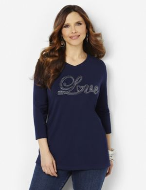 Love Sequin Tee
