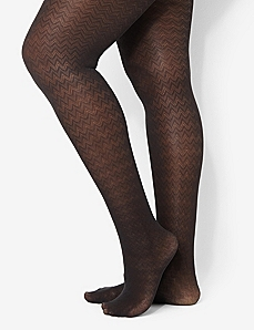 Chevron Tights by CATHERINES