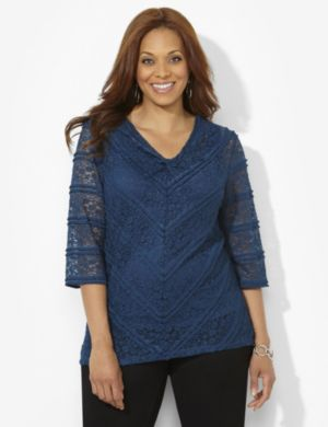 Lace Statement V-Neck