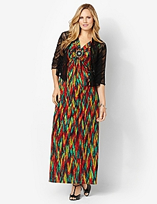 Sun-Drenched Maxi & Shrug by CATHERINES