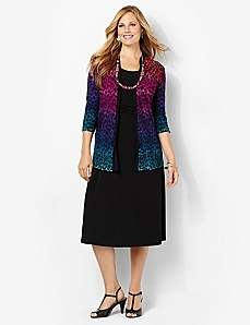 Colorblend Jacket Dress