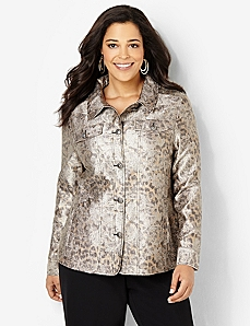 Textured Jacquard Jacket by CATHERINES
